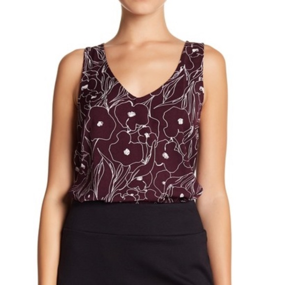 6ab37de567 14th & Union Tops | 14th And Union Floral Career Vneck Tank Top ...